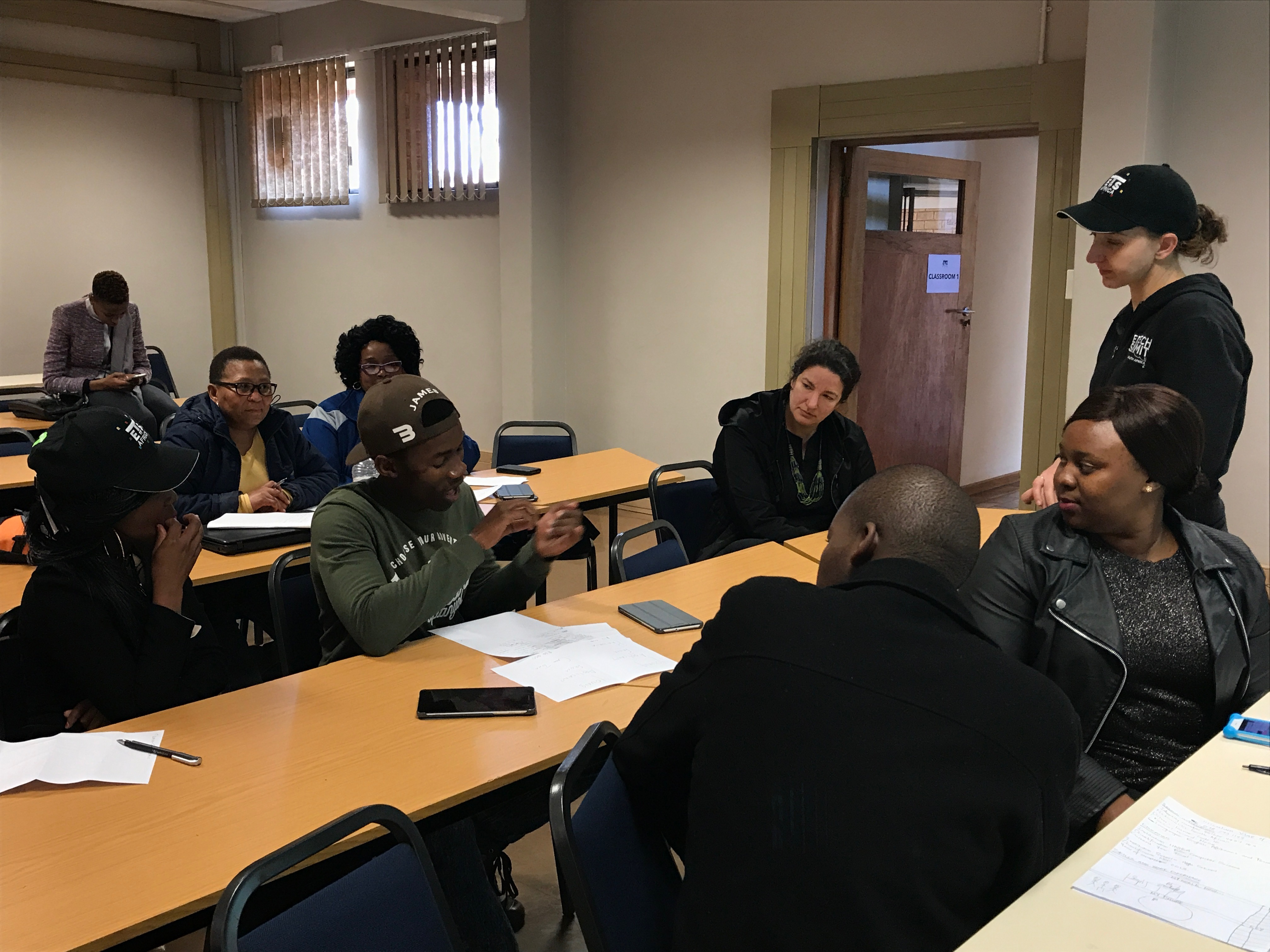 Siobhan leading a workshop at University of Pretoria, Mamelodi campus
